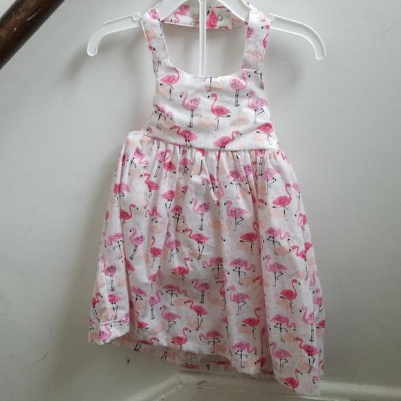 27cadc2e3d8 NWT Cute flamingo baby girl halter dress